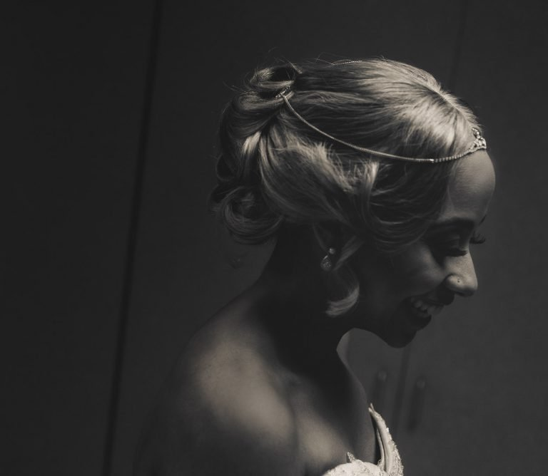 Bride Smiling at the Lichterman Nature Center in Memphis Tennessee