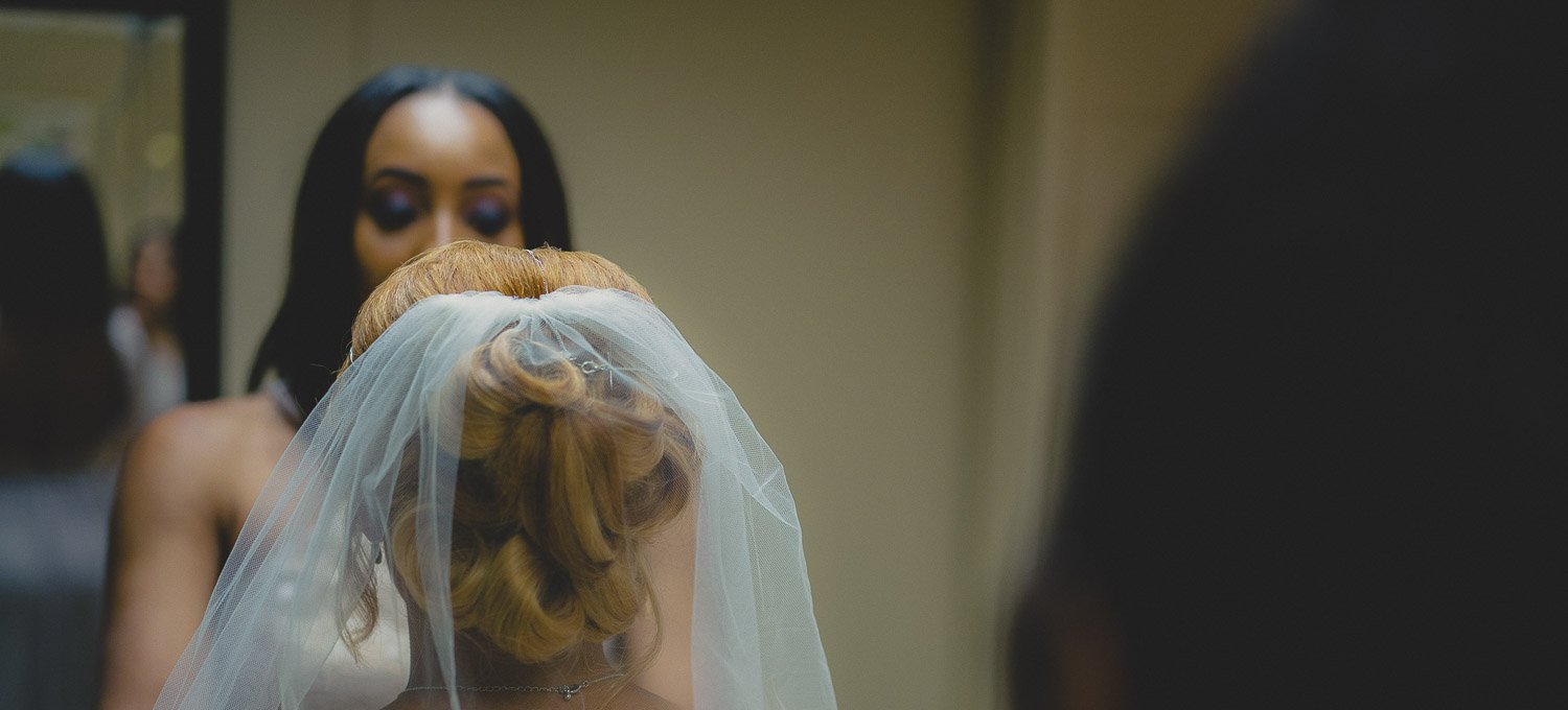Bride Prep. Bridal party helping Bride prepare at the Lichterman Nature Center in Memphis Tennessee